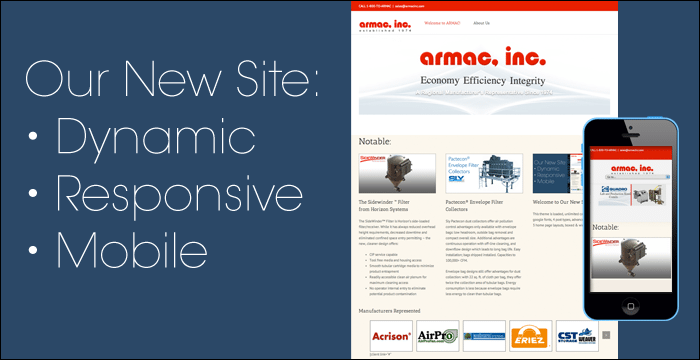 Armac's new site